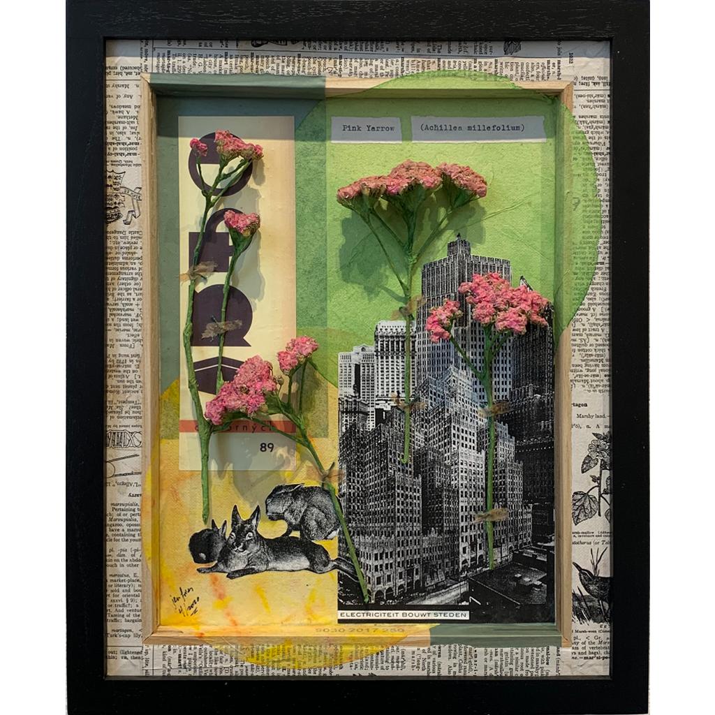 Pink Yarrow by Jen Fries  •   mixed media   •   $700