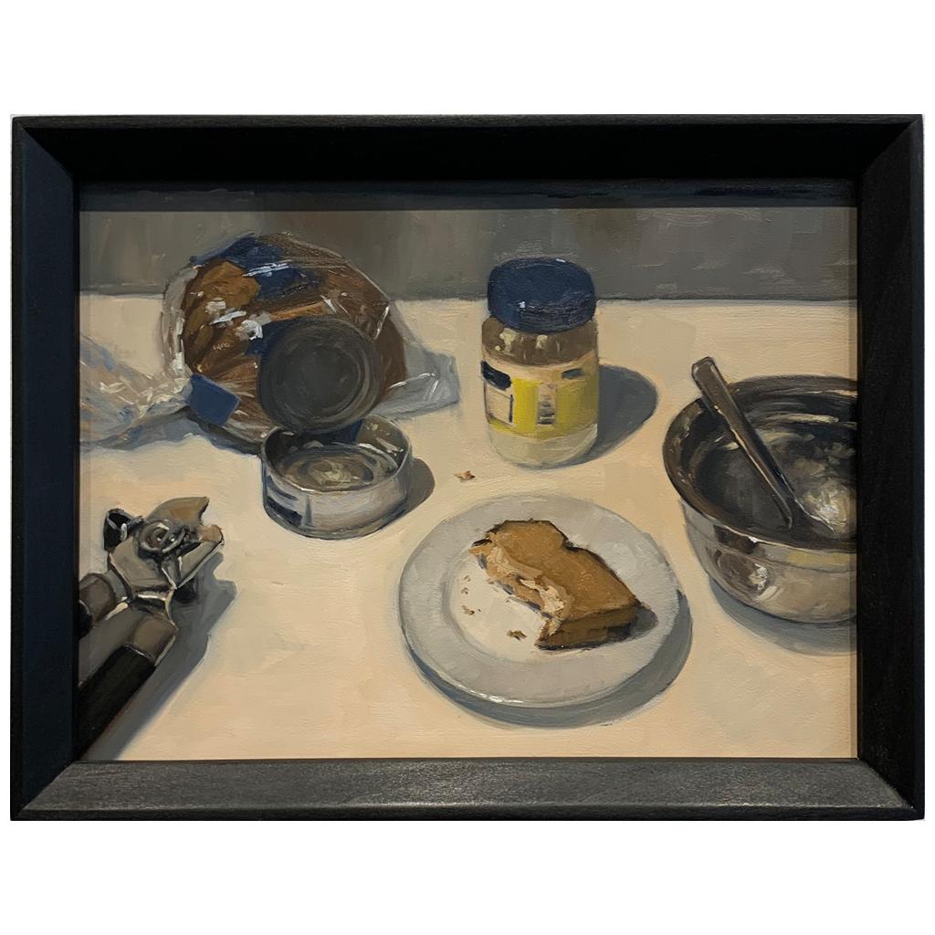Unititled (tuna fish sandwich) by Adam Leveille   •  oil   •   $450