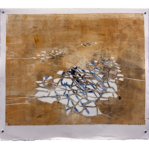 Refraction Fresco by Julia Shepley    •   monoprint    •   $500