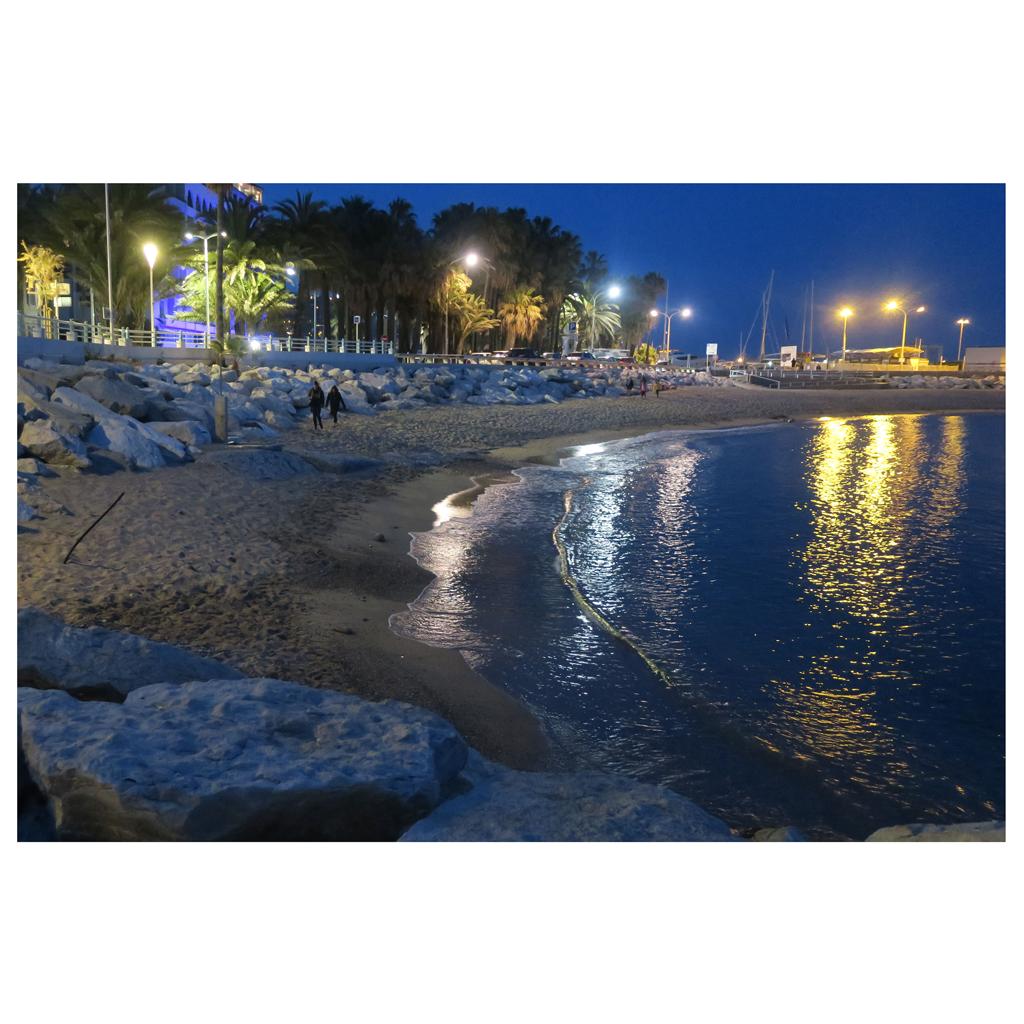Klaus Adamczyk   -   Blue Hour on the Beach, Cannes-Cote d'Azur   -   photo   -   $115
