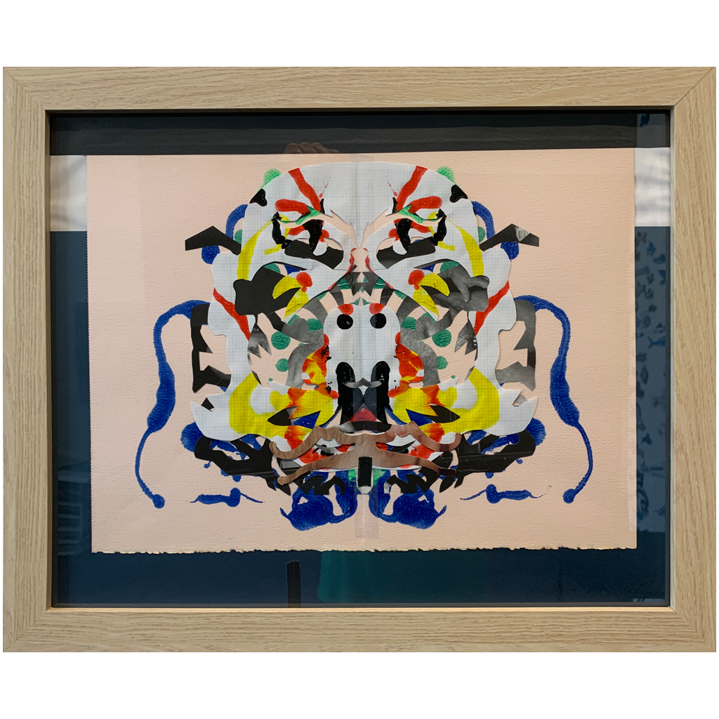 Charles G. Baldwin   -   Old Goat   -   printed paper, paint, adhesive tape   -   $77