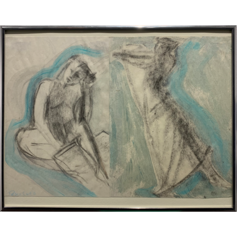 Patricia Cobb   -   Girls Dancing   -   charcoal & acrylic   -   NFS