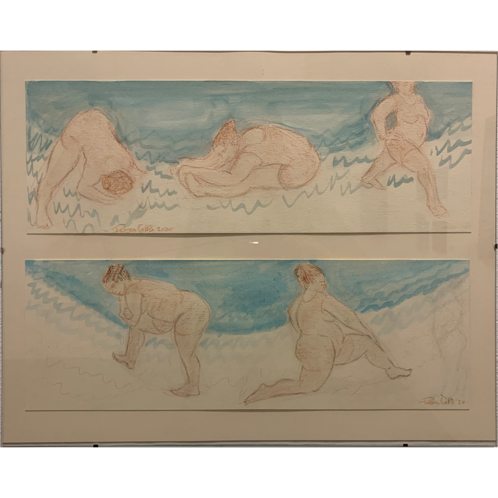 Patricia Cobb   -   Sketches by the Water   -   pastel & watercolor   -   $800.