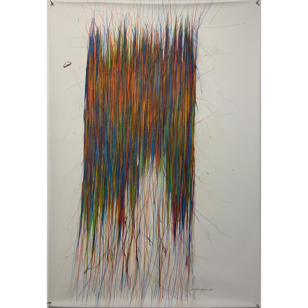 Deborah Davidson   -   Dispelling   -    color pencil on vellum   -   $2000.