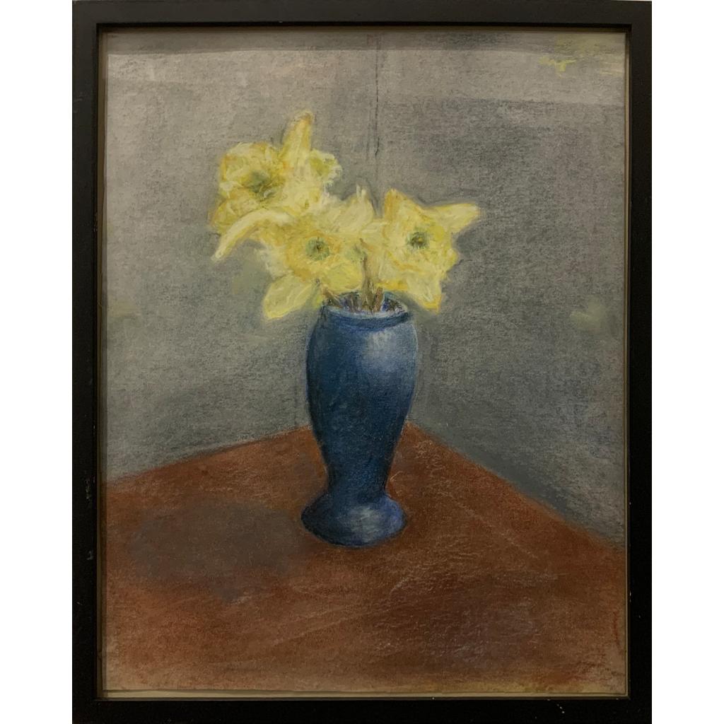 Joan Elias   -   Nina's Blue Vase   -   pastel   -   NFS