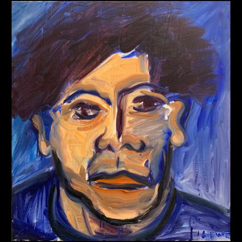 Lois Fiore   -   Blue Portrait   -   oil on canvas   -   $450