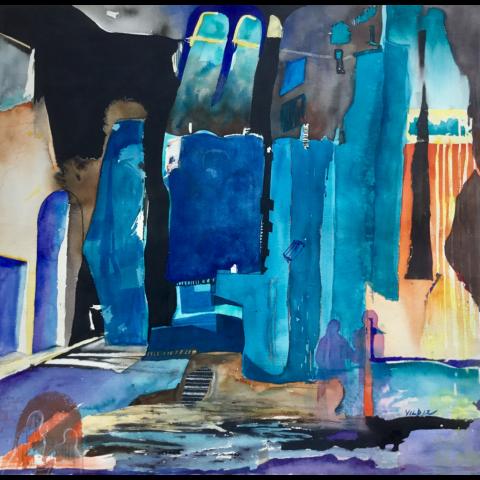Yildiz Grodowski   -   Vampire City   -   watercolor   -   $1200