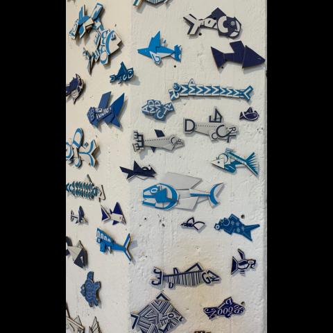 Pier Gustafson   -   Flow Blue Fishes Detail