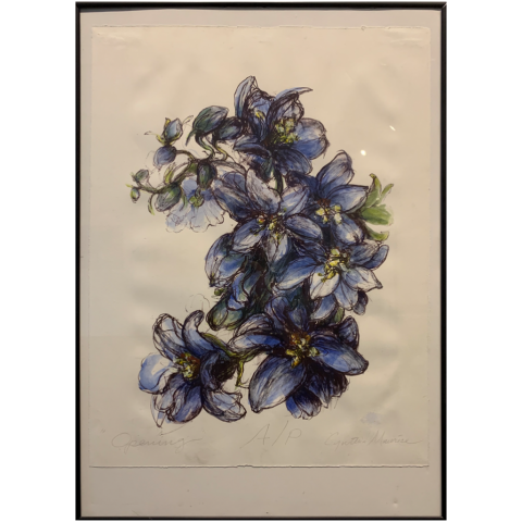 Cynthia Maurice   -   Opening, hand colored lithograph   -   artist proof   -   $300