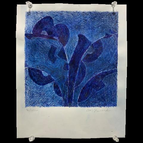 Chris Mesarch   -   Cooper Black   -   ink, paper   -   $175.