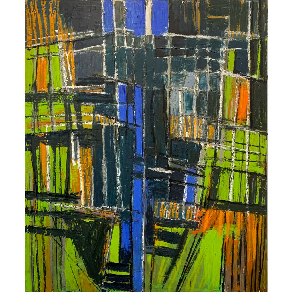 Alyson Schultz   -   Divide   -   oil on panel   -   $4000