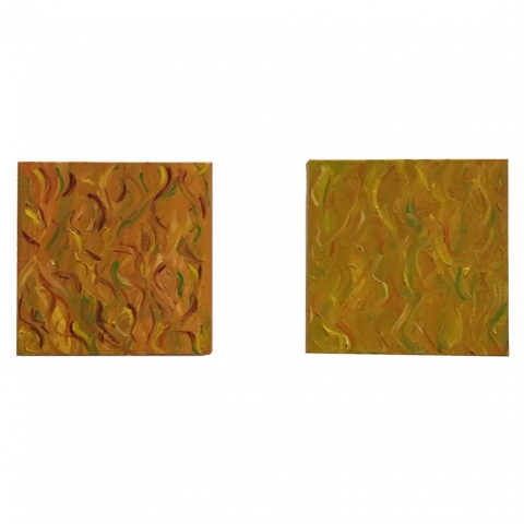 Lois Fiore  -  Jazz 1 and 2  -  oil on canvas  -  $125 (each)