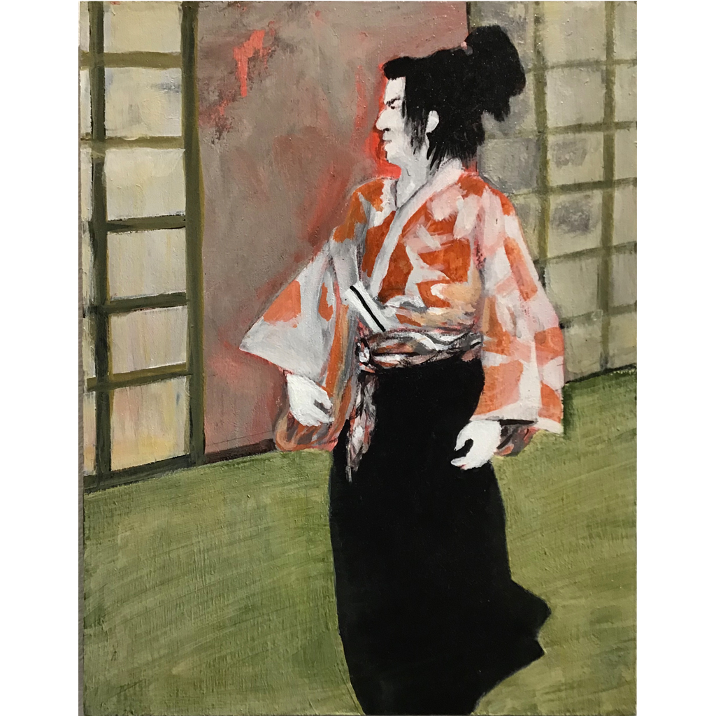 Chris Mesarch  -  Kabuki 3  -  acrylic on board  -  $475