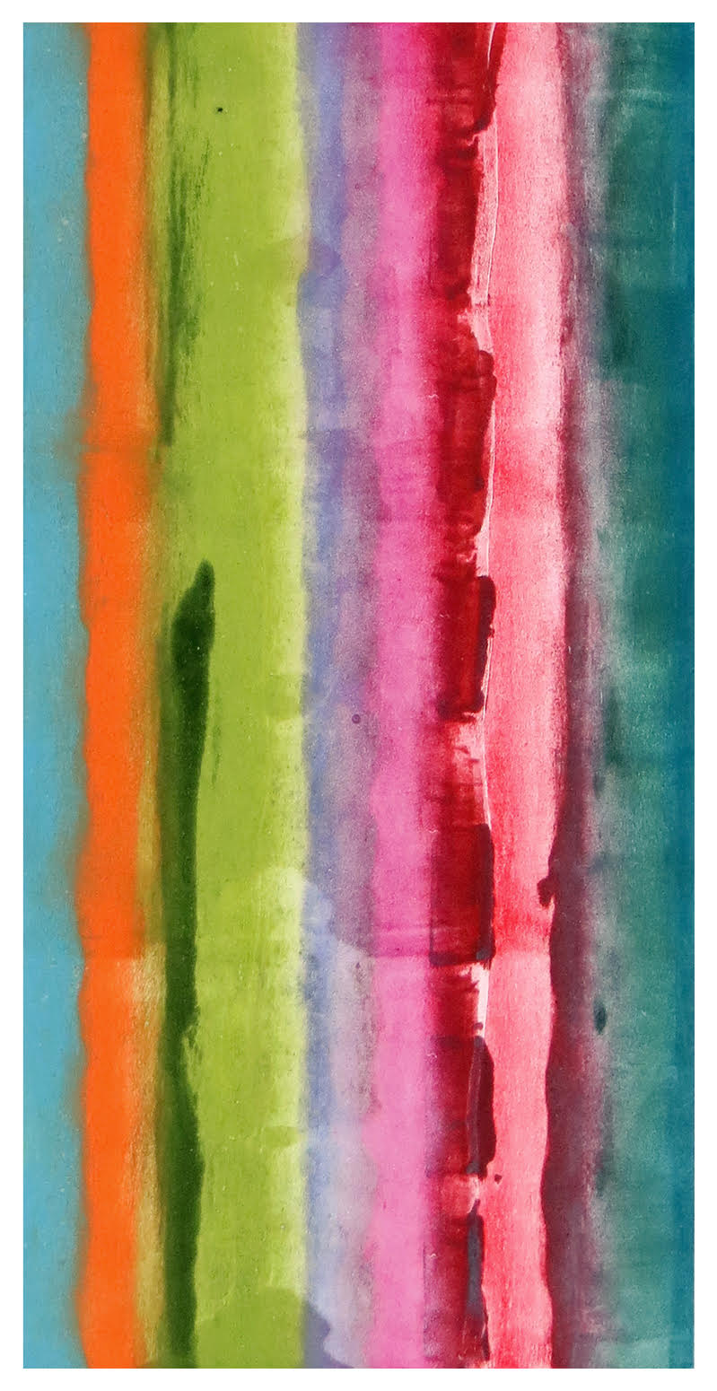 Anne Russell  -  Rose Campion 2  -  monotype, soy based ink on rag paper  -  24 x 14 framed  -  $475