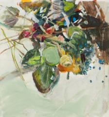 Bobbi Kovner  -  Commingle  -  oil on paper  -  25 x 25   -  NFS