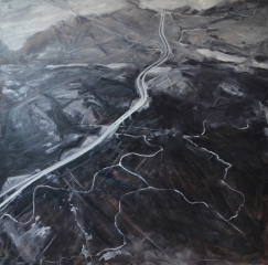Jeremy Angier  -  Alps  -  oil on board  -  24 x 24  -  NFS