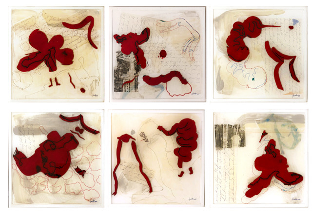 Josephine Turalba  -  Restraint Volume 1 – 6  -  mix media  -  10 x 10  -  $280 each