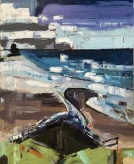 Nancy Livada  -  Indian Beach, OR #2  -  oil on canvas  -  30 x 24  -  $900