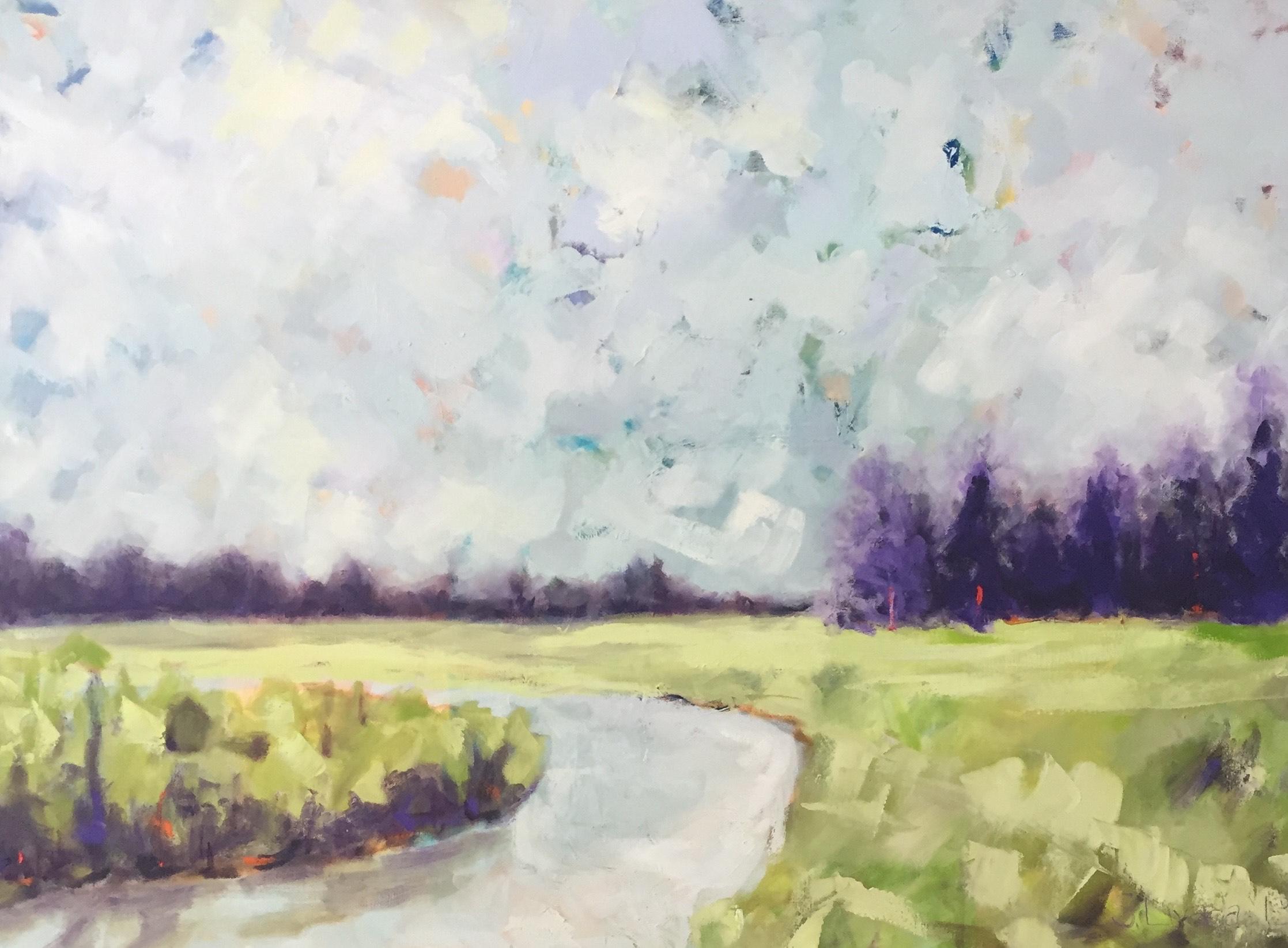 Susan Livada  -  Purple Trees  -  oil on canvas  -  30 x 24 -- $1,500