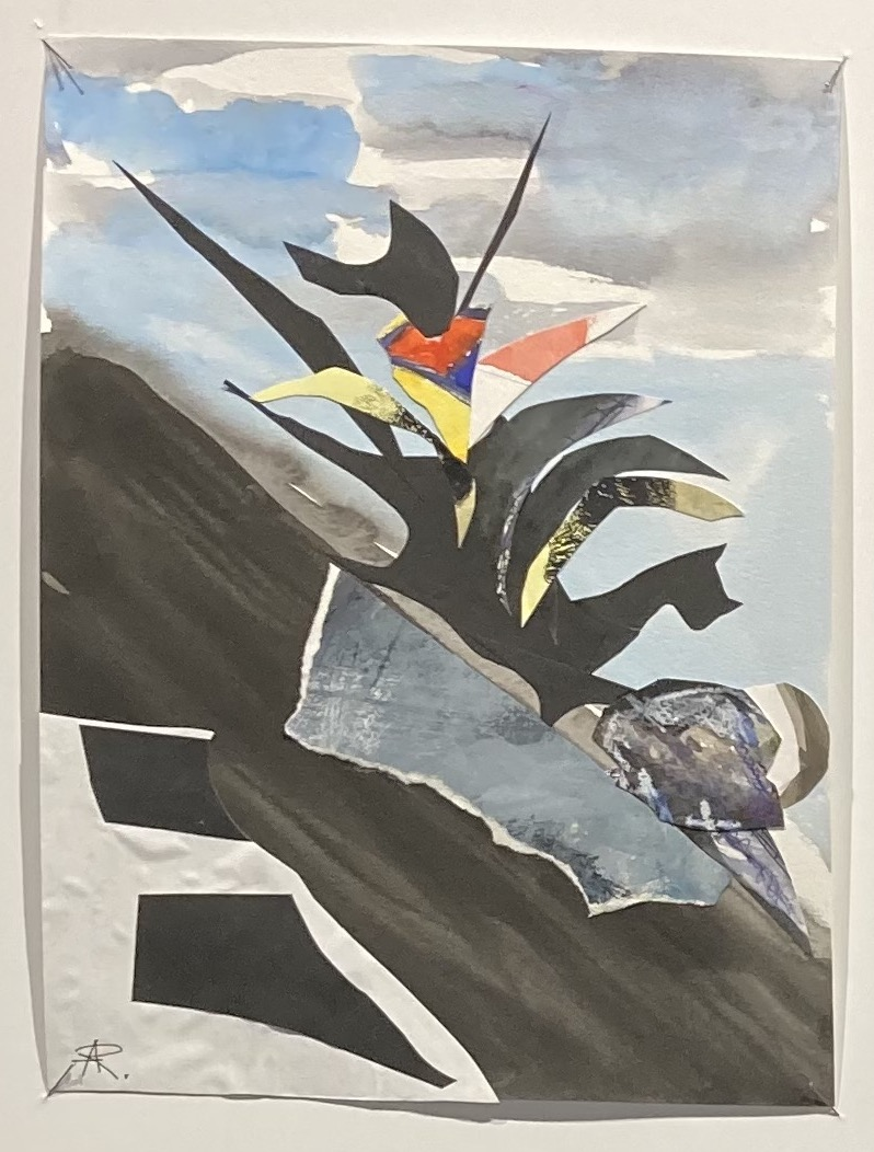 Alexandra Rozenman  -  A Dragon and a Rock  -  12 x 9  -  collage  -  $500.00