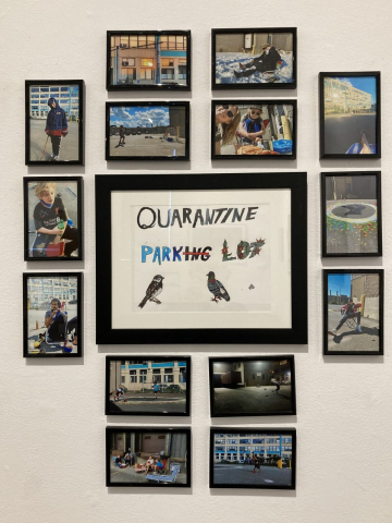 Augustin Didier & Family  -  Quarantine Park  -  photography, pencil & ink  -  variable  -  NFS