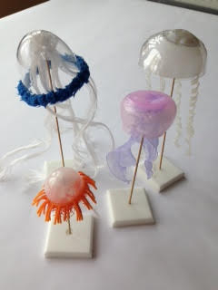 Ellen Young  -  Sea Creatures in Plastic  -  found plastic objects  -  variable  -  NFS