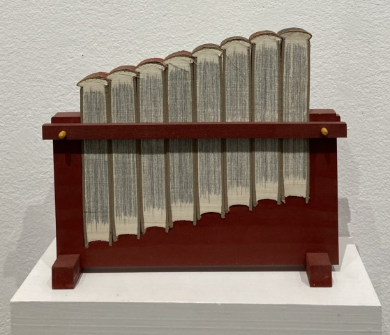 Jessica Straus  -  DIY  -  wood, paint, found object, shelf  -  9 x 11 x 2.5  -  $800.00