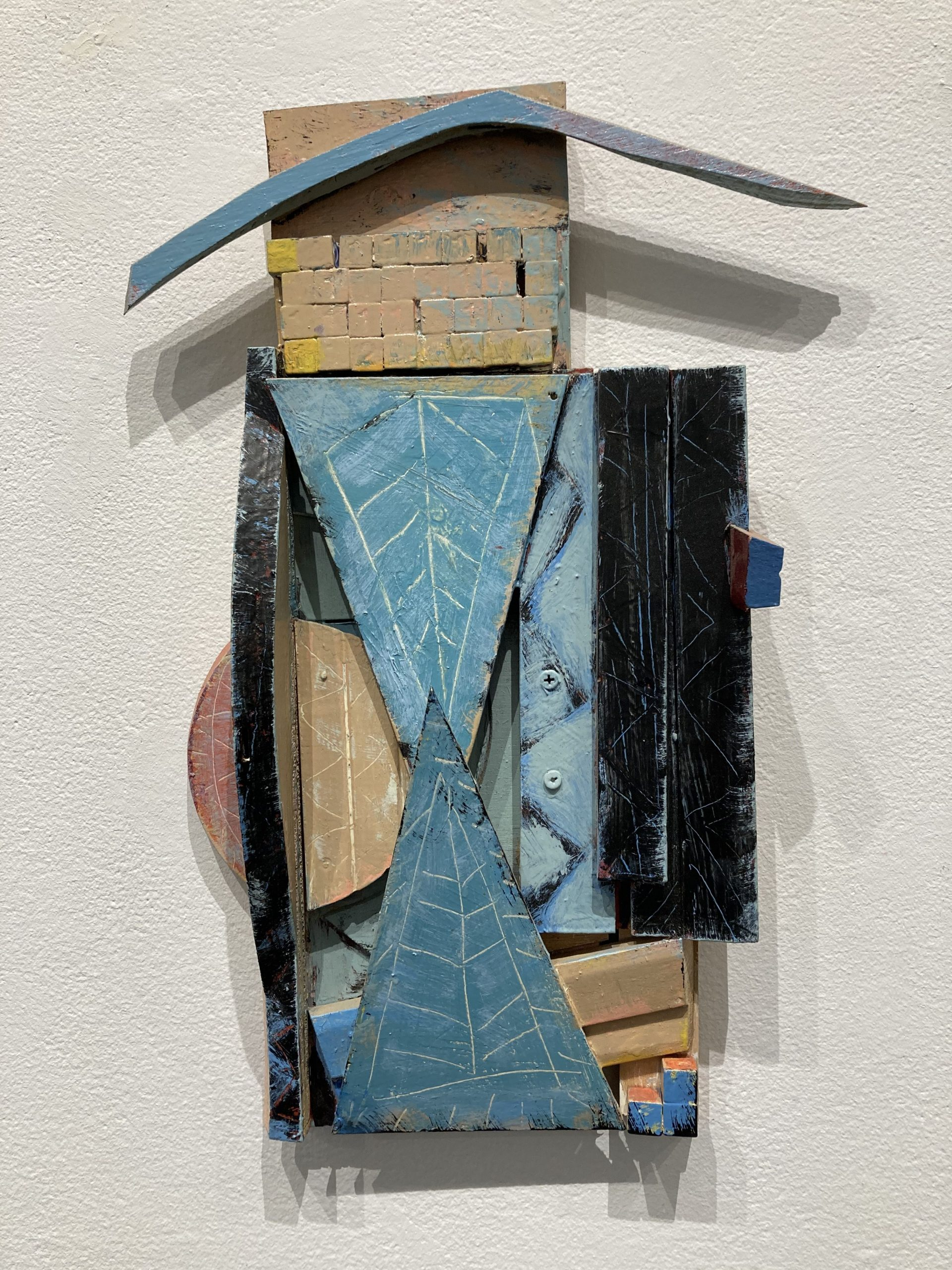 "Phyllis Ewen   -  Blue Bonnet  -  Mixed Media  -  20"" x 14.5"" x 3.5"""
