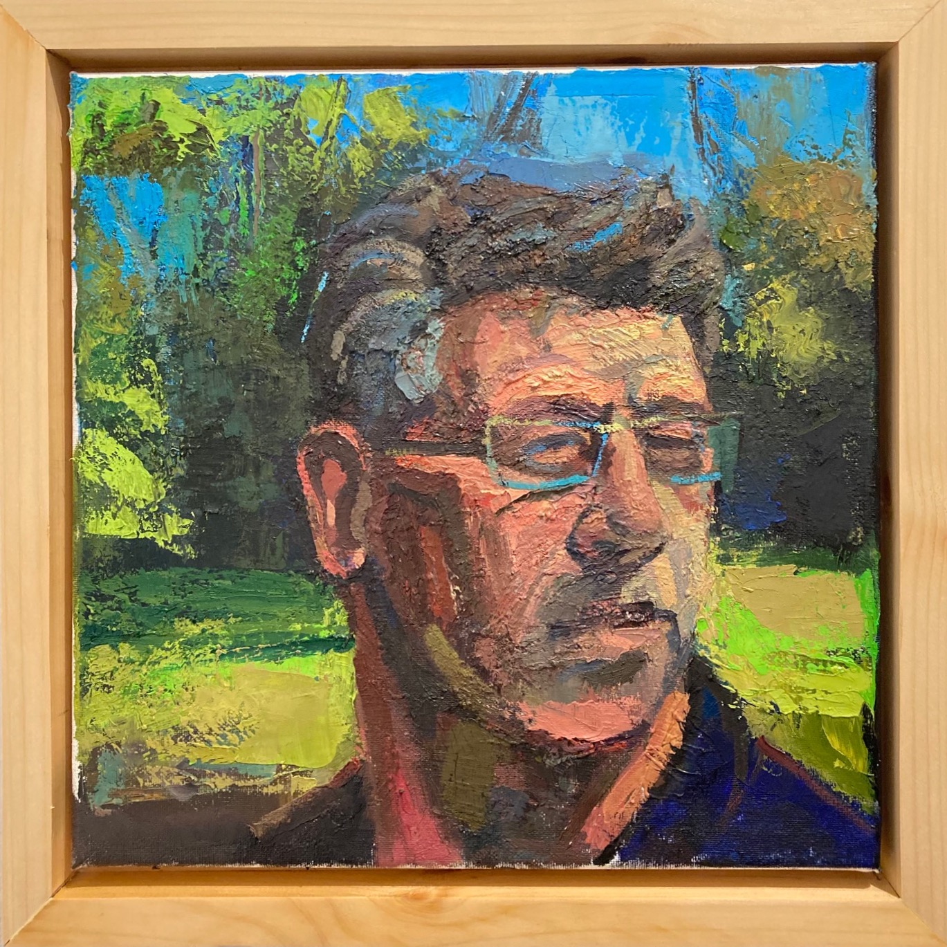 Brad Archambault  -  A View from Behind Me  -  oil on canvas  -  $1,000.00