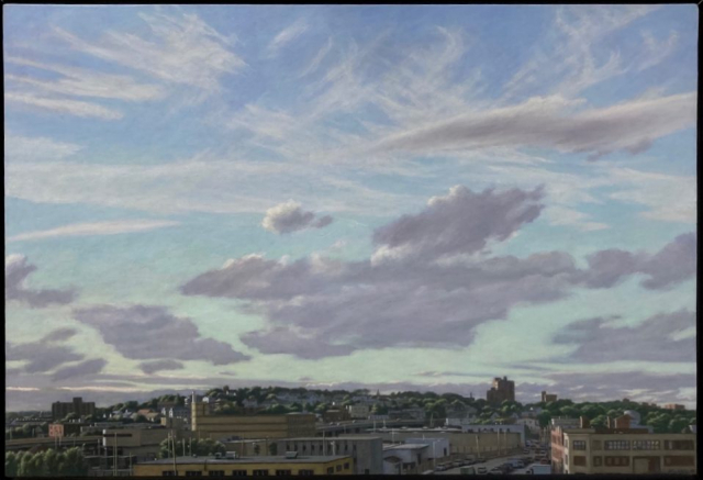 David Campbell  -  View of Castle Hill, Somerville  -  oil on panel  -  POR