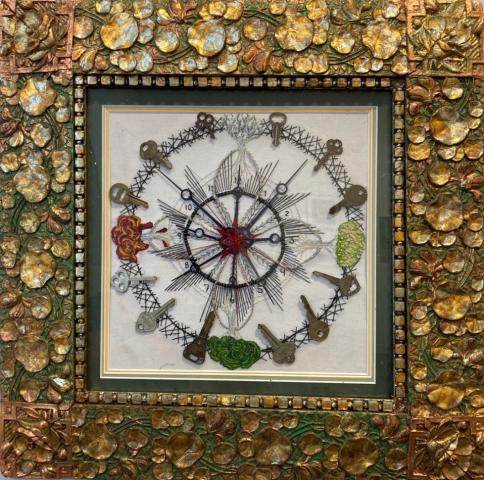 Paula Marie  -  Countouris Cycle  -  embroidery & mixed media  -  $200.00