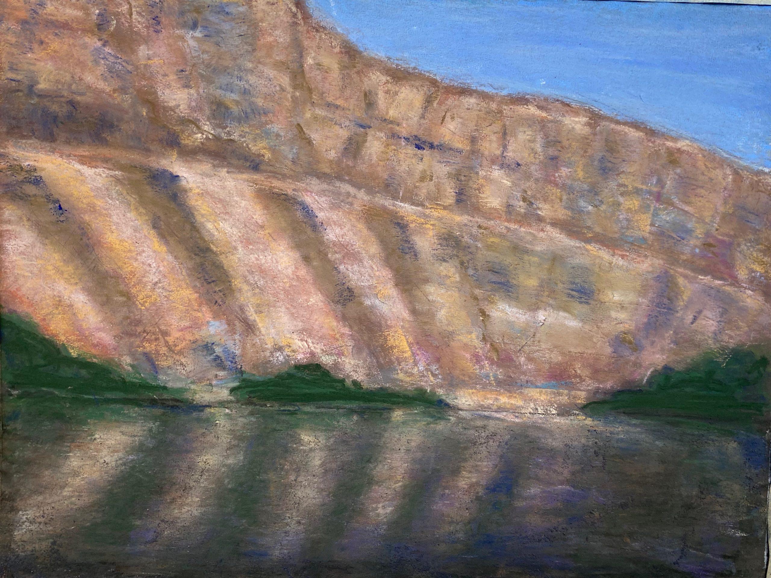 Joan Elias  -  Cliffs Out West  -  pastel  -  NFS
