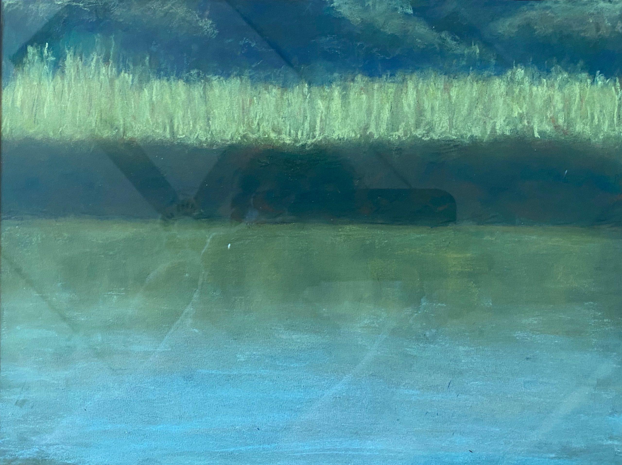 Joan Elias  -  Green Grass Reflections  -  pastel  -  NFS