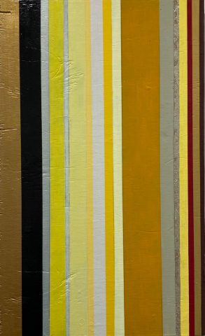 E. Goodnow  -  Flavo Orationes ad Inferos  -  Yellow Prayers for the Afterlife  -  mixed media  -  $1,200.00