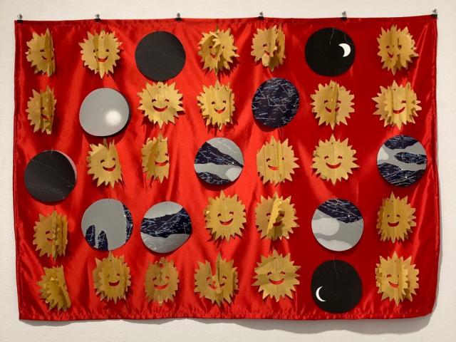 Charlotte Ellen Kaplan  -  Summer Calendar  -  mixed media  -  $900.00