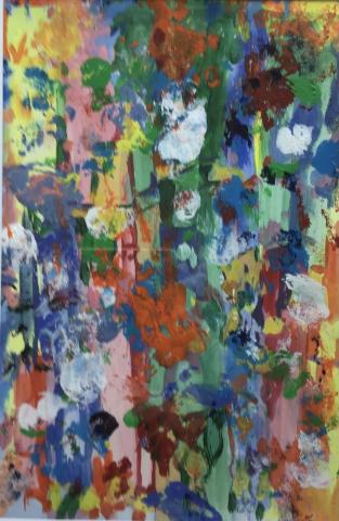 Joan Kent  -  Hiding in the Trees  -  acrylic  -  $500.00