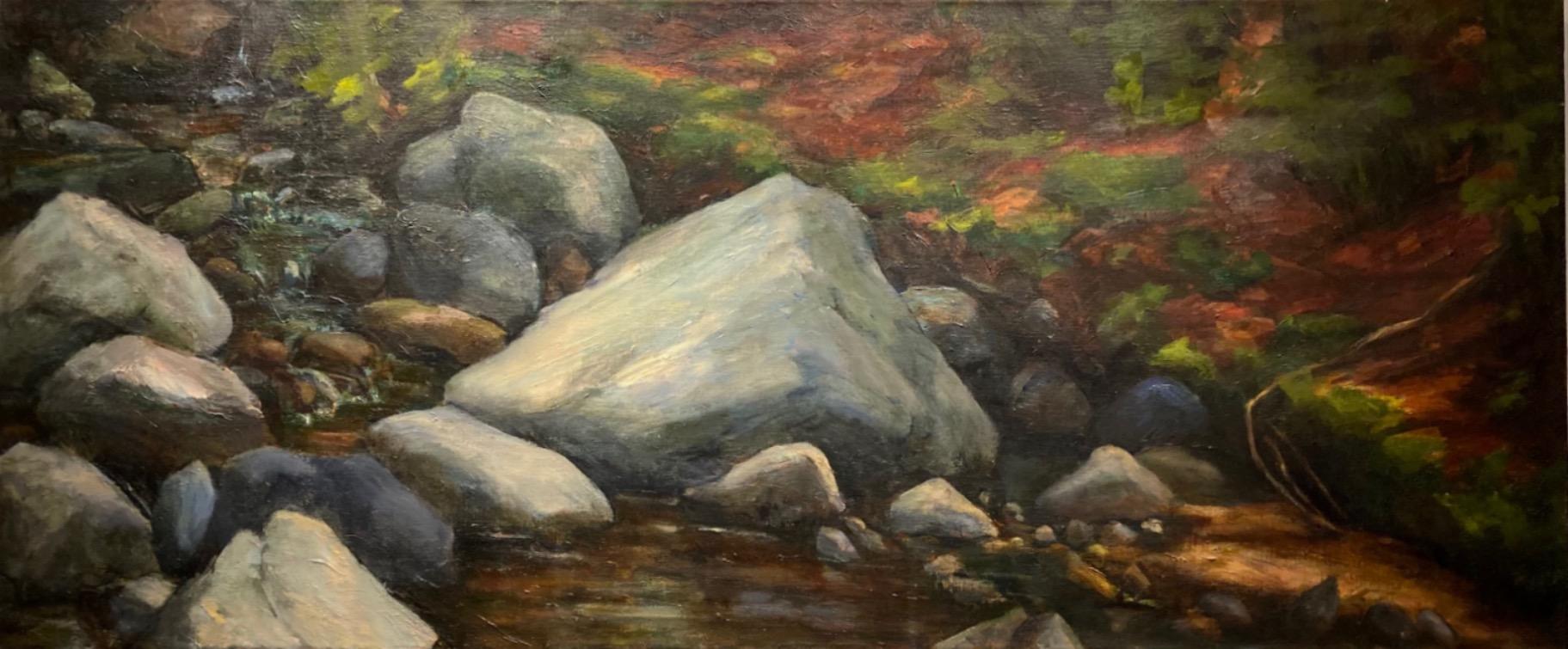 Cynthia Maurice  -  Rocks N Stream  -  oil on linen
