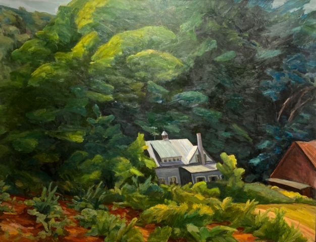 Cynthia Maurice  -  Vermont Pastures  -  oil on linen