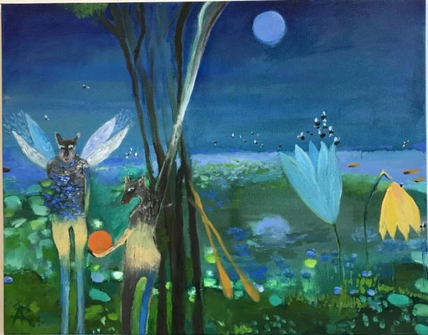 Alexandra Rozenman  -  That's It  -  oil on canvas  -  $1500.00