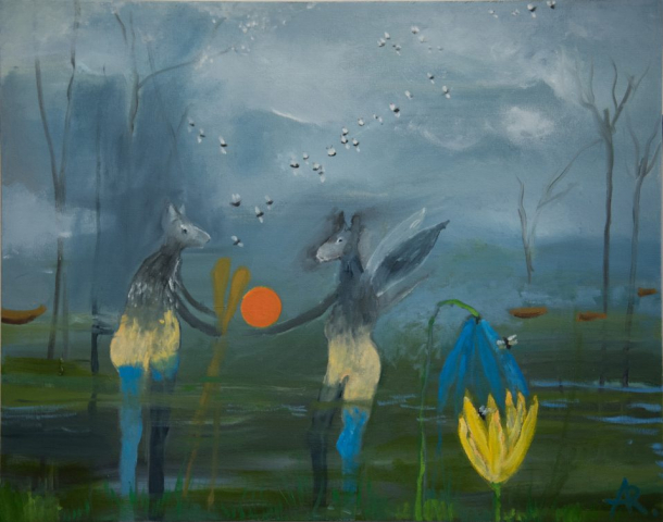 Alexandra Rozenman  -  The Gift  -  oil on canvas  -  $1500.00
