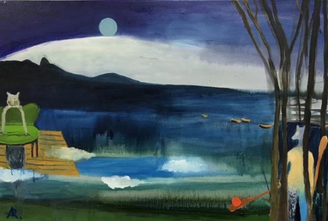 Alexandra Rozenman  -  Reflections  -  oil on canvas  -  $1500.00