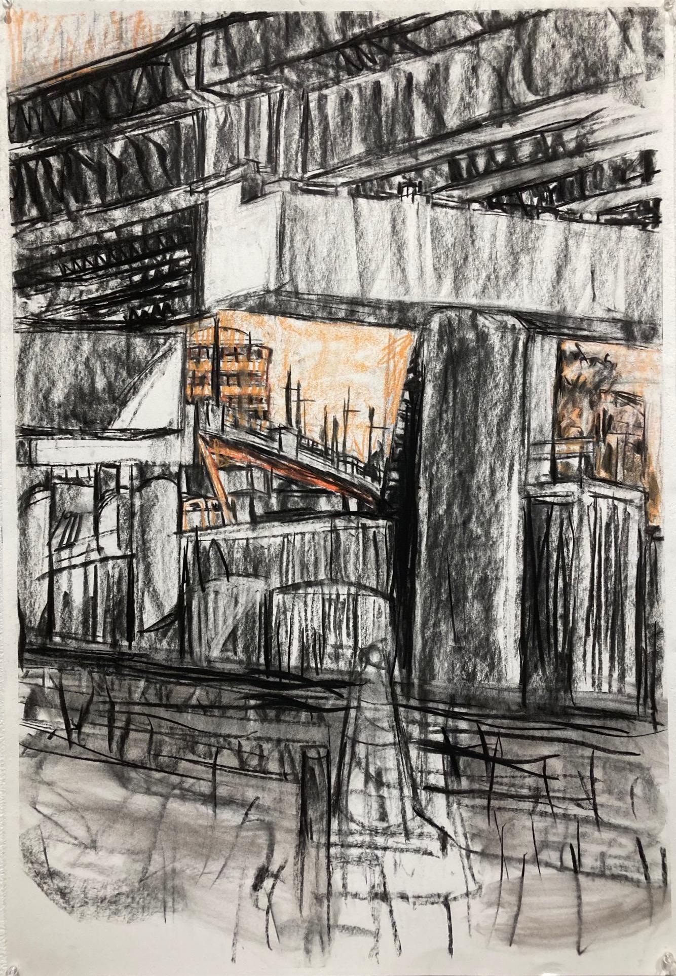 Susan Schmidt  -  GLX 2  -  charcoal & Nu Pastel  -  NFS