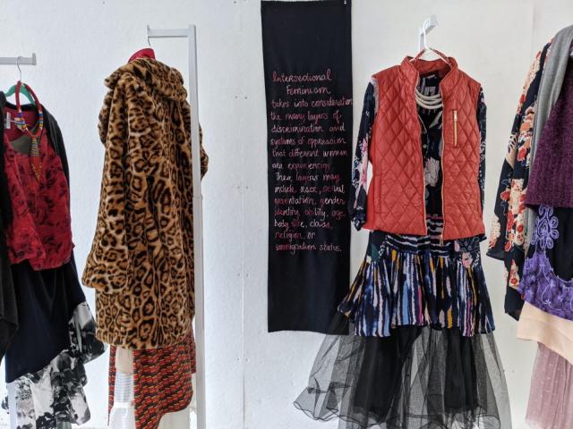 Kimberly Becker  -  Intersectional Feminism, Installation (Detail)  -  10' wide