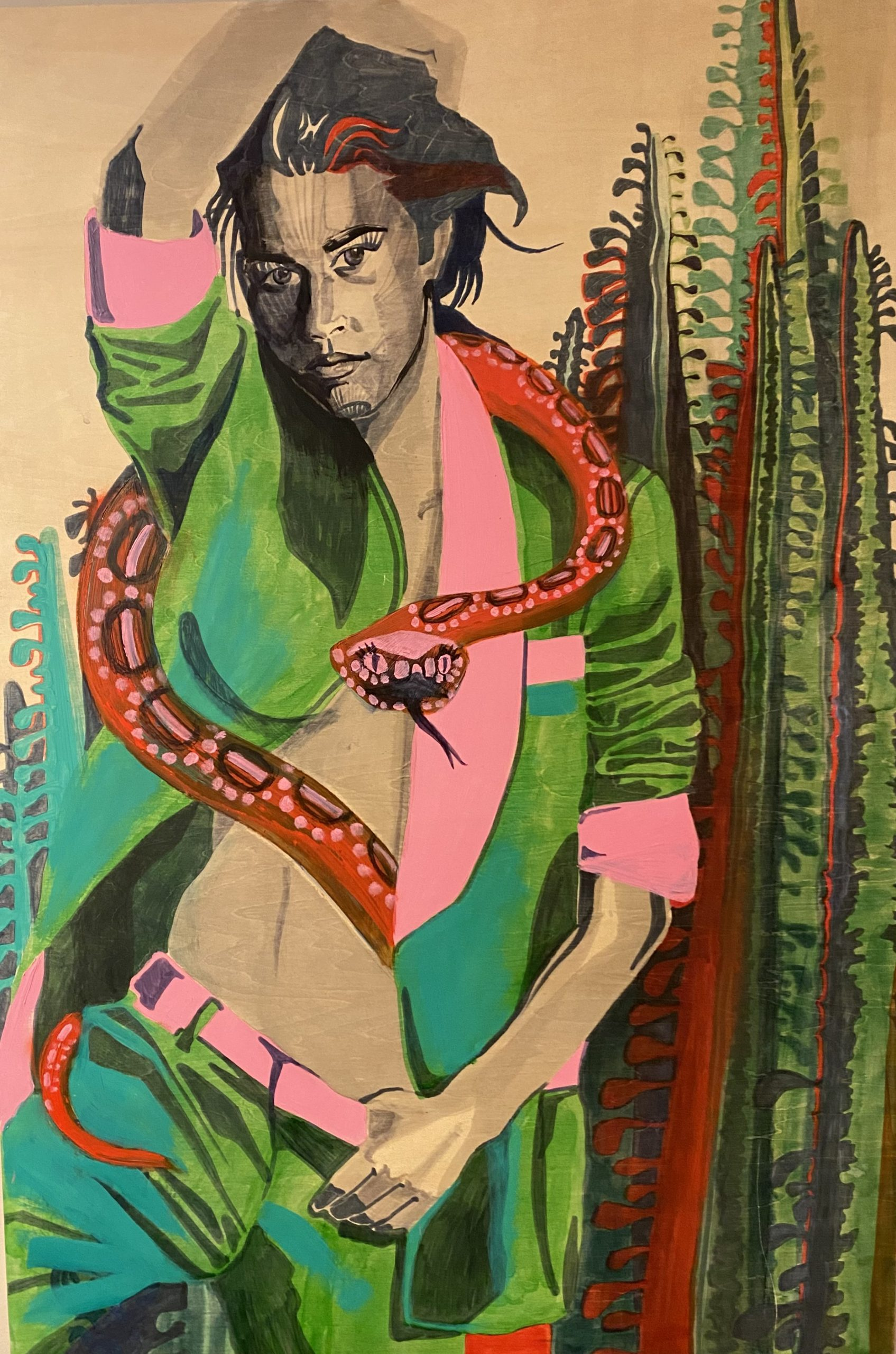 Caitlin Doering  -  I'm Leaving and I'm Taking the Snake  -  ink on board  -  24x36